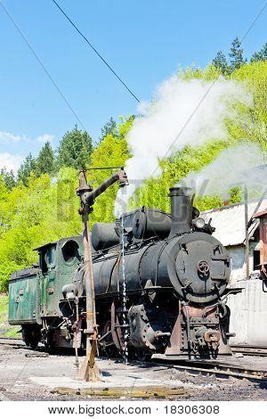 steam locomotive, delivery point in Oskova, Bosnia and Hercegovina
