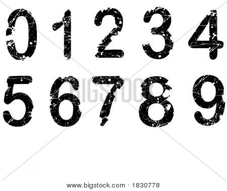 Acid Etched Numbers