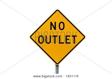 No Outlet Road Sign Isolated
