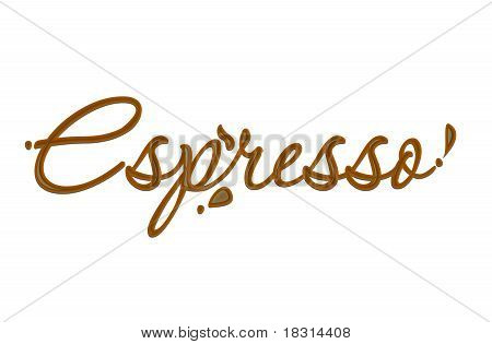 Chocolate Espresso Text