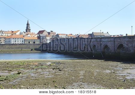 Old Bridge Across River Tweed At Berwick-upon-tweed