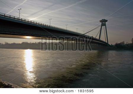 New Bridge In Bratislava Slovakia Europe
