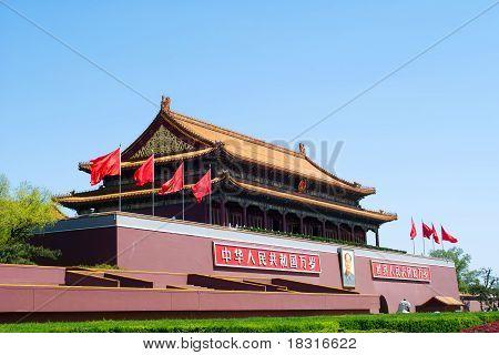 Tiananmen Gate ( Gate Of Heavenly Peace), Beijing