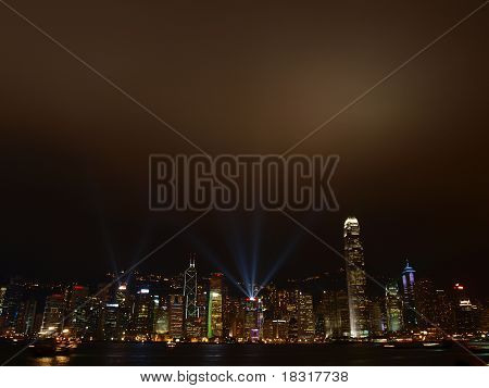 Symphony of Light from Victoria Harbour, Hongkong