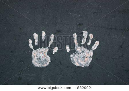 Handprints On Blacktop