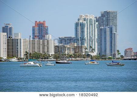 View of Southbeach Condos on the Intercoastal Waterway