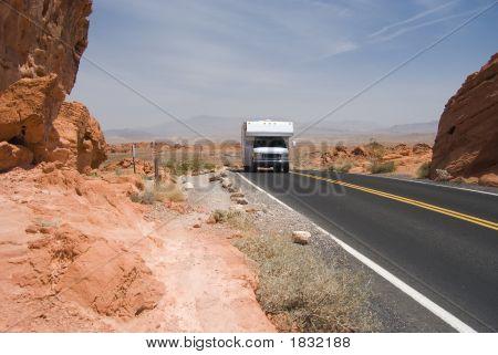 Motor Home On Highway