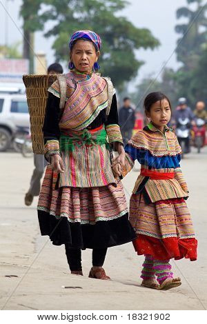 Flor h ' Mong personas Vietnam