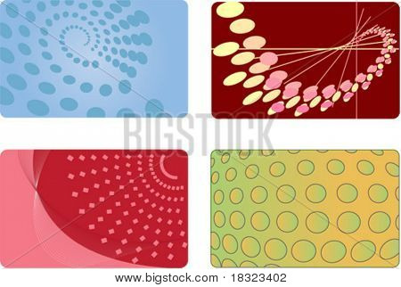 Set of Abstract backgrounds for business identity card