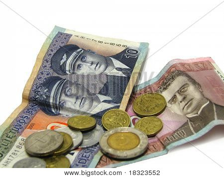 money from Lithuania isolated