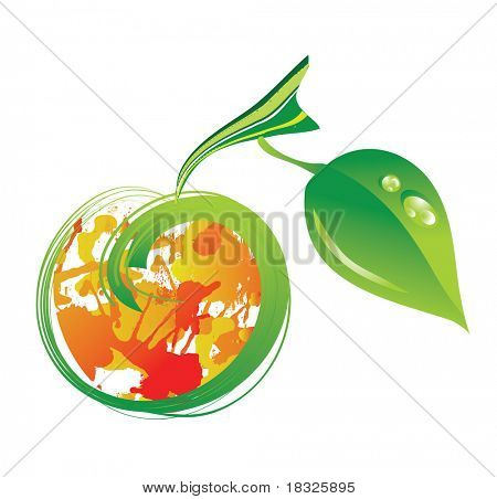 vector abstract apple