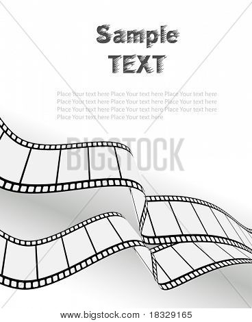 vector movie/photo film - isolated illustration on white background