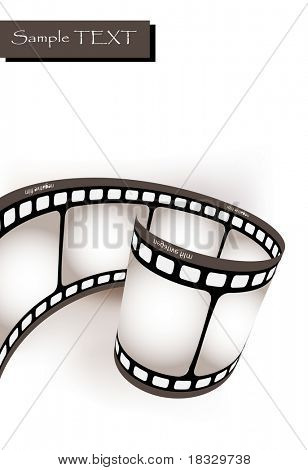 Curved photographic film