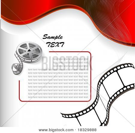 vector background with a reel of film