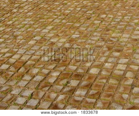 Wooden Squares As Pavement Big Stock