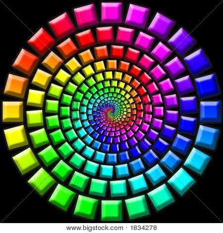 Regenbogen-Candy-Treppen