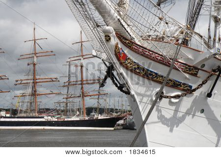 Sailing Ships In Port