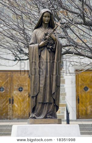 Statue of Virgin Mary at a local romacn catholic church