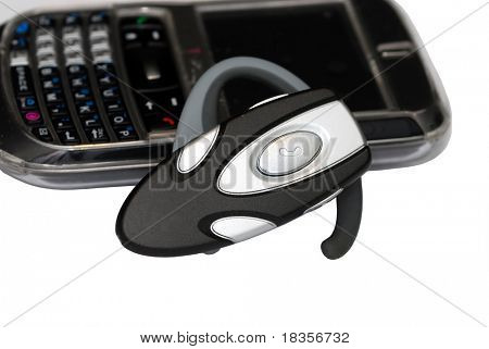 Cellular phone and headset concept of call