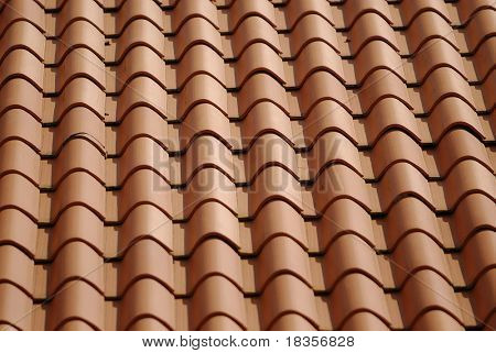 closeup shot of patterns in a roof top