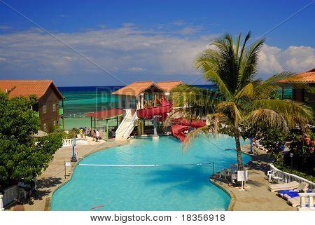 Having fun at a beautiful Jamaican resort