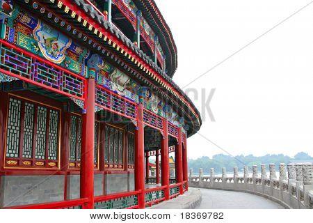 Antike chinesische Architektur im Zentrum Pekings