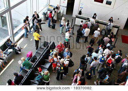 Air Travelers to China at Airport Terminal