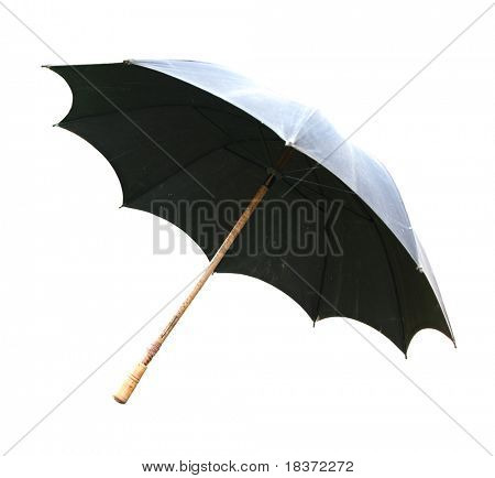vintage canvas umbrella isolated