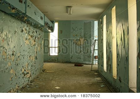 shabby corridor