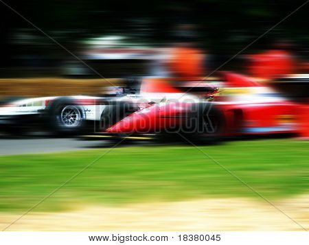 Formula one racing cars