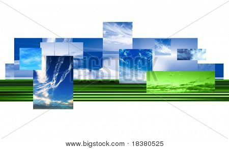 Sky abstract illustration