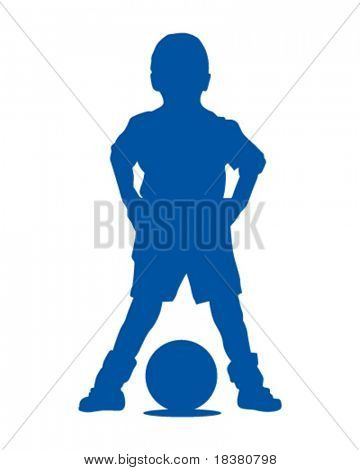 Young boy with ball