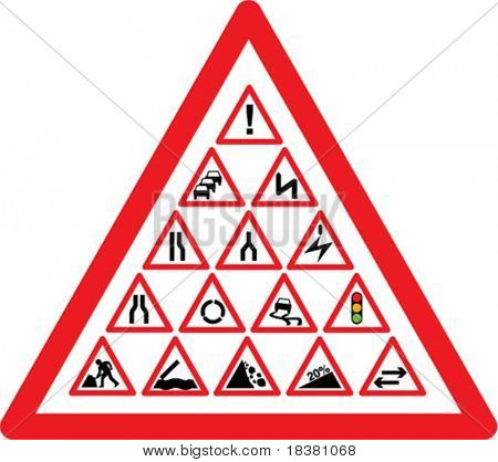 Vector Road sign symbols