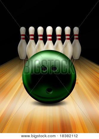 Tenpin bowling game