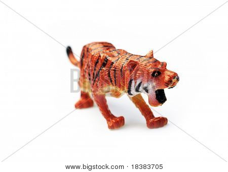 Plastic toy tiger
