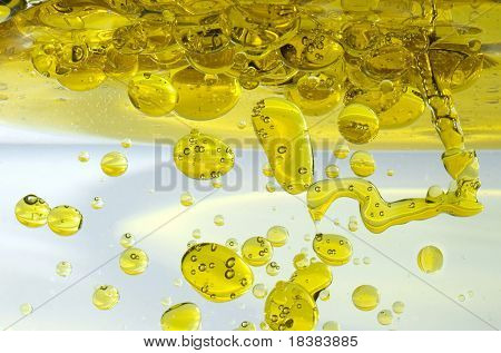 Olive Oil Under water
