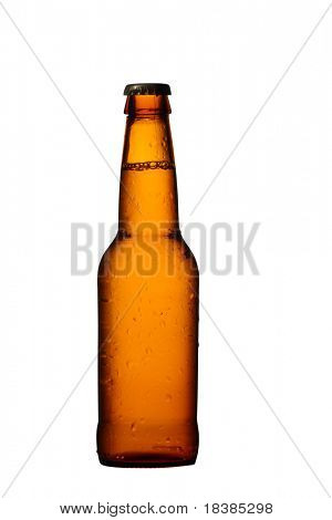 beer boottle isolated on white