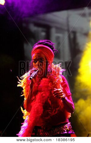 LOULE, PORTUGAL - JUNE 25: Ojos de Brujo performs onstage at Festival Med June 25, 2009 in Loule, Portugal.