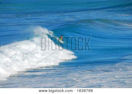 Surfer On A Large Wave