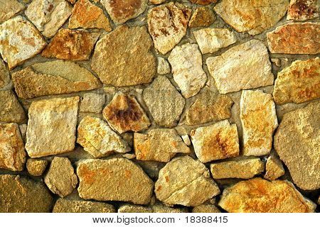 Sand stones wall. Background or texture.