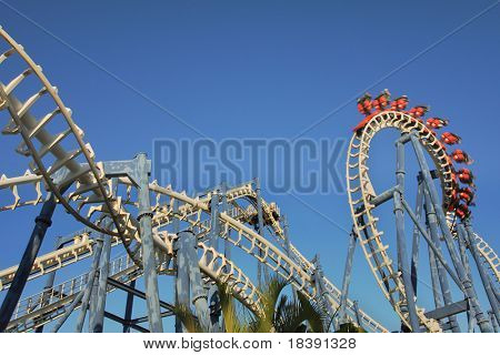 Roller coaster loop in Luna Park, Tel Aviv.
