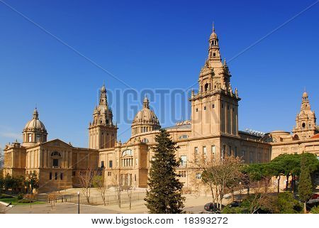 National museum in Montjuic, Barcelona