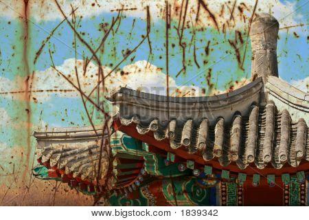 Grunge Chinese Pagoda