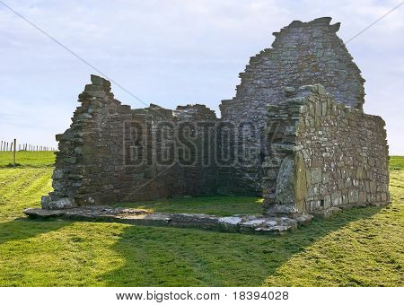 Ruined church building