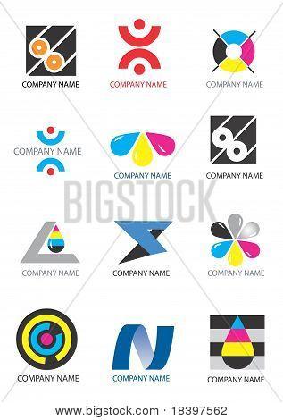 Company icons print design