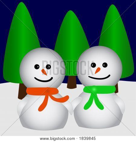 Two Snowfriends In Love