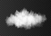 White  Dust  Cloud  Isolated On Transparent Background. poster