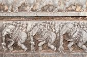 picture of belur  - A section from the world famous hoysala architecture in India - JPG