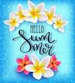 Hello Summer. Calligraphic Inscription poster