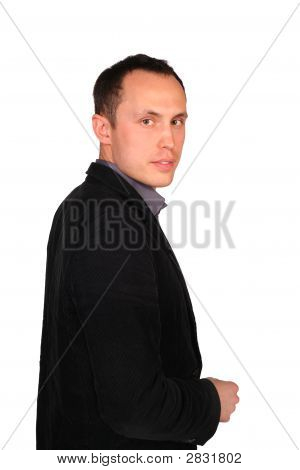 Young Businessman Sideview